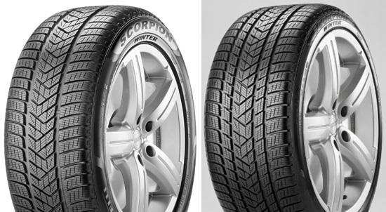 У шины Pirelli Scorpion Winter будет два рисунка протектора в зависимости от ширины протектора